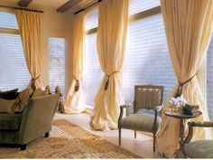 What's more romantic than big drapey curtains?  I LOVE these!