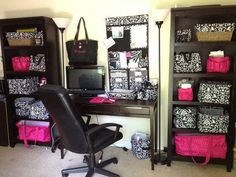 Check out what THIRTY ONE can do for you. Love this idea for an office.