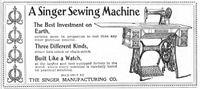 Singer Sewing Machine Built Like A Watch 1899 Ad Picture