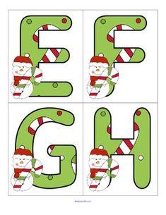 CHRISTMAS ALPHABET - FREE - TeachersPayTeachers.com