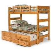 Found it at Wayfair - Extra Tall Twin over Twin Standard Bunk Bed with Trundle