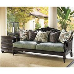 Ordinaire TOMMY BAHAMA HOME ROYAL KAHALA TURTLE BAY EXPOSED WOOD SOFA Wooden Sofa,  Turtle Bay,