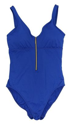 $79.95 - Ralph Lauren Zipper Front One Piece Bathing Suit Ocean #ralphlauren