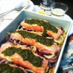 zalmfilet met venkel & anijszaad uit de oven made by ellen Low Fat Snacks, Low Carb Recipes, Healthy Recipes, Frittata, Seaweed Salad, Broccoli, Seafood, Lunch, Beef