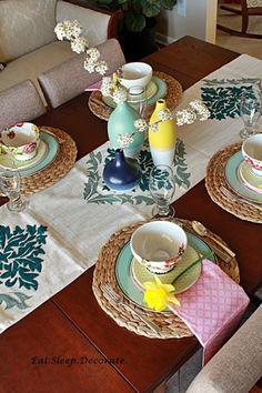 Setting the Table for Spring using items from Target, World Market & HomeGoods.  #homegoodshappy #Target #WorldMarket