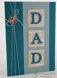 Father's Day is fast approaching and it's time to start thinking about Fathe… – Fathers day cards handmade – Vatertag Masculine Birthday Cards, Birthday Cards For Men, Masculine Cards, Diy Birthday, Male Birthday, Homemade Birthday Cards, Homemade Cards, Happy Birthday, Fathers Day Cards Handmade
