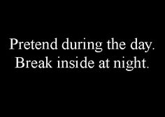 The night has it secrets