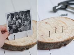 For the beautiful memories - inspirations - ShowHome.nl Source by cindydolmans Fearfully Wonderfully Made, Photo On Wood, Wooden Picture, Diy Gifts For Mom, Wooden Art, Diy Arts And Crafts, Diy Photo, Photo Displays, Christmas Crafts