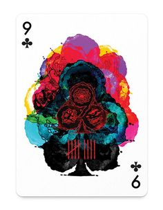 Stunning set of illustrations adorn artistic poker cards.