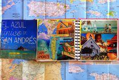 Sketchbook collage of Isla San Andrés, Colombia