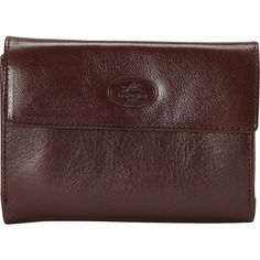 Mancini Leather Goods Ladies RFID Small Clutch Wallet Women's ($70) ❤ liked on Polyvore featuring bags, wallets, brown, ladies small wallets, ladies wallets, brown bag, brown wallet, leather wallet, flap wallet and genuine leather wallet