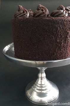 Shirl's Brooklyn Blackout Cake Stately and tall: ready to serve