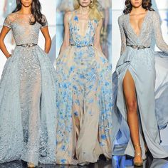 Choose your favorite 1, 2 or 3?  #ZuhairMurad Haute Couture   .  .  #dress #hautecouture #highfashion #altamoda #altacostura #weddingdress #weddinggown #embroidery #wedding #bridal #bridetobe #bridesmaid #wed #weddingstyle #embroidery #lebanesedesigner #longdress #longgown #princessdress #promdress #princess #queen #couture #gown #marsendress