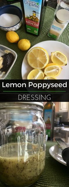 This homemade dressing is light, refreshing and perfect for Spring! It goes well on leafy greens, pasta salads or a mixed fruit salad. | Clearly Organic Nutritionist Corner #organic #homemade #LemonPoppyseed #Dressing