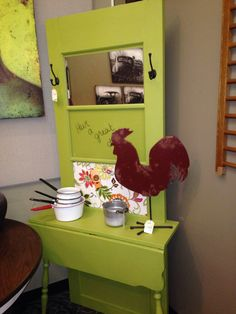 Entryway table made from an old door #edwardsville #eville #edglenmag, Edwardsville