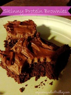 Skinny Protein Brownies on MyRecipeMagic.com