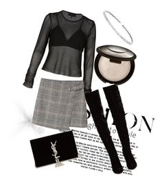"""Untitled #4"" by ralu-florea on Polyvore featuring Christian Louboutin, MANGO, Suzanne Kalan and Yves Saint Laurent"