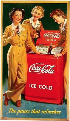 Vintage Coca Cola Ads - Coca Cola - Ideas of Coca Cola - Ideas of Coca Cola . - Vintage Coca Cola Ads – Coca Cola – Ideas of Coca Cola – Ideas of Coca Cola – Vintage - Coca Cola Poster, Coca Cola Ad, World Of Coca Cola, Coca Cola Vintage, Pin Ups Vintage, Vintage Ads, Poster Vintage, Vintage Girls, Vintage Pink