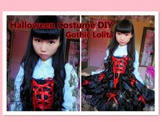 DIY Kawaii - How to restyle your old clothes to Gothic lolita dress for halloween/school - YouTube