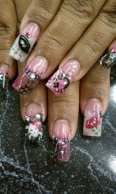PINK SPITER by LaPulido - Nail Art Gallery nailartgallery.nailsmag.com by Nails Magazine www.nailsmag.com #nailart