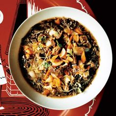 Hunter's Stew with Braised Beef and Wild Rice | David Ansel makes this stew with venison and venison stock, but it's equally delicious prepared with beef chuck. The meat is slowly braised in Madeira to bring out its rich flavor, then it's combined with beef-based broth and nutty, slightly crunchy wild rice.