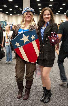 Female Captain America and Tony Stark by Sonia.Harris, via Flickr