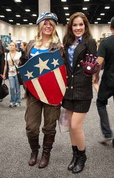 Female Captain America and Tony Stark by Sonia.Harris, via Flickr