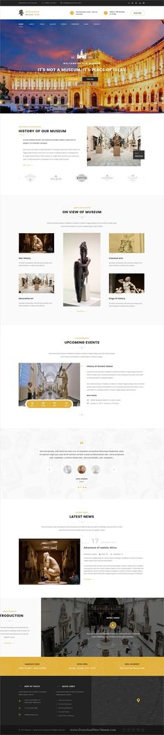 History museum psd template psd templates template and museums alicante museum psd template pronofoot35fo Choice Image