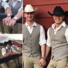 This 2 cowboys just got married yesterday ! Same Love, Man In Love, Gay Romance, Hot Cowboys, Lgbt Love, Cute Gay Couples, Gay Art, Gay Pride, Sexy Men