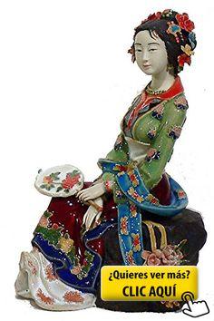 Porcelana figura antiguo chino Oriental Beauty... #figura