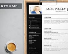 Resume template instant download resume template wordresume | Etsy Job Resume Template, Modern Resume Template, Creative Resume Templates, Resume Objective Examples, Resume Examples, Hairstylist Resume, Dance Resume, Sorority Resume, Hr Resume