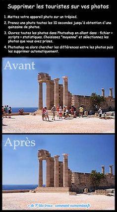 supprimer les touristes sur les photos de vacances
