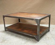 Industrial Iron & Wood Coffee Table