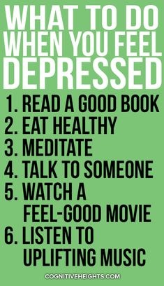 Feeling depressed and want to feel better? Here's what to do when you feel depressed. Mental Health Support, Mental And Emotional Health, I Feel Depressed, Always Thinking Of You, Fighting Depression, Calming Music, New Beginning Quotes, Friendship Day Quotes, Positive Attitude