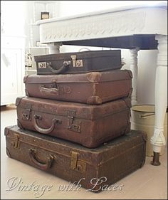 Vintage Suitcases - Studio Tour 2012 - Vintage with Laces