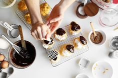 Baking Bootcamp:  Dark Chocolate Cream Puffs or Cheese and Chive Gougères | http://joythebaker.com/2015/12/baking-bootcamp-fudge-topped-cream-puffs-or-cheese-and-chive-gougeres/