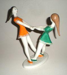 Beautiful piece! | eBay! Girl Dancing, Art Deco, Porcelain, Dance, Christmas Ornaments, Holiday Decor, Beautiful, Home Decor, Ebay