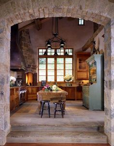 My simple, elegant country kitchen ..... I wish!