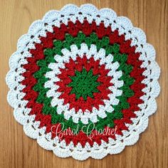 icu ~ Pin on Christmas and Holiday Crochet ~ Sousplat Natalino 🎄🎄🎄🎄 Encomendas Direct WhatsApp Crochet Coaster Pattern, Crochet Quilt, Granny Square Crochet Pattern, Crochet Flower Patterns, Crochet Squares, Diy Crochet, Crochet Crafts, Crochet Stitches, Crochet Projects