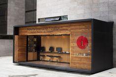 Puntos de información de madera en BogotáI know it is not a van but this would be so cool as a Coffee Shop.