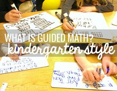 Guided Math in Kindergarten: Mission Possible - Guided math is a system you put in place to teach students math in small groups