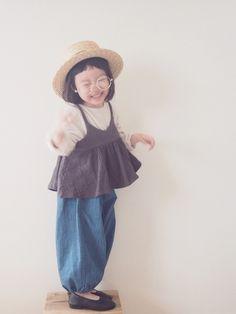 Cute Outfits For Kids, Cute Kids, Children Outfits, Kids Fashion Boy, Girl Fashion, Fashion Sewing, Dress Fashion, Japanese Kids, Handmade Baby Clothes
