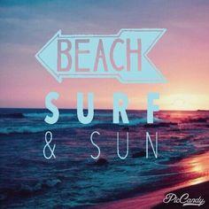 Beach surf and sun