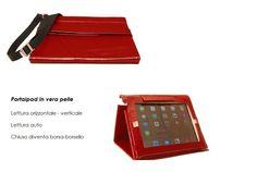 Portaipad in vera pelle 2 posizioni e lettura auto - Artigianale Made in Italy