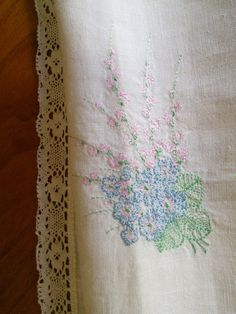 Linen Tablecloth or Curtain Pastel Floral by FromParisToProvence, €39.00