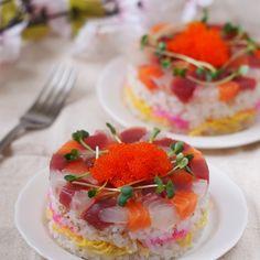 ひな祭りのお寿司ケーキ