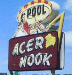 Acer Nook Motel On Old Tampa Hwy. In Lakeland Florida Cool Neon Signs, Love Neon Sign, Vintage Signs, Retro Vintage, Lakeland Florida, British Pub, Carnival Festival, Arrow Signs, Hotel Motel