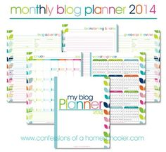 2014 Monthly Blog Planner