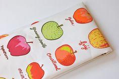 apple varieties  tea towel  linencotton  by KatherineCodega, $18.00