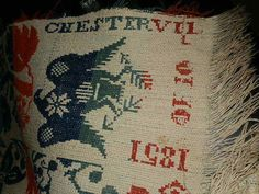 Antique Coverlet 1851 Chesterville Ohio Estate Find 84 x 72 | eBay